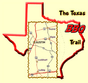 Map displaying the BBQ Trail