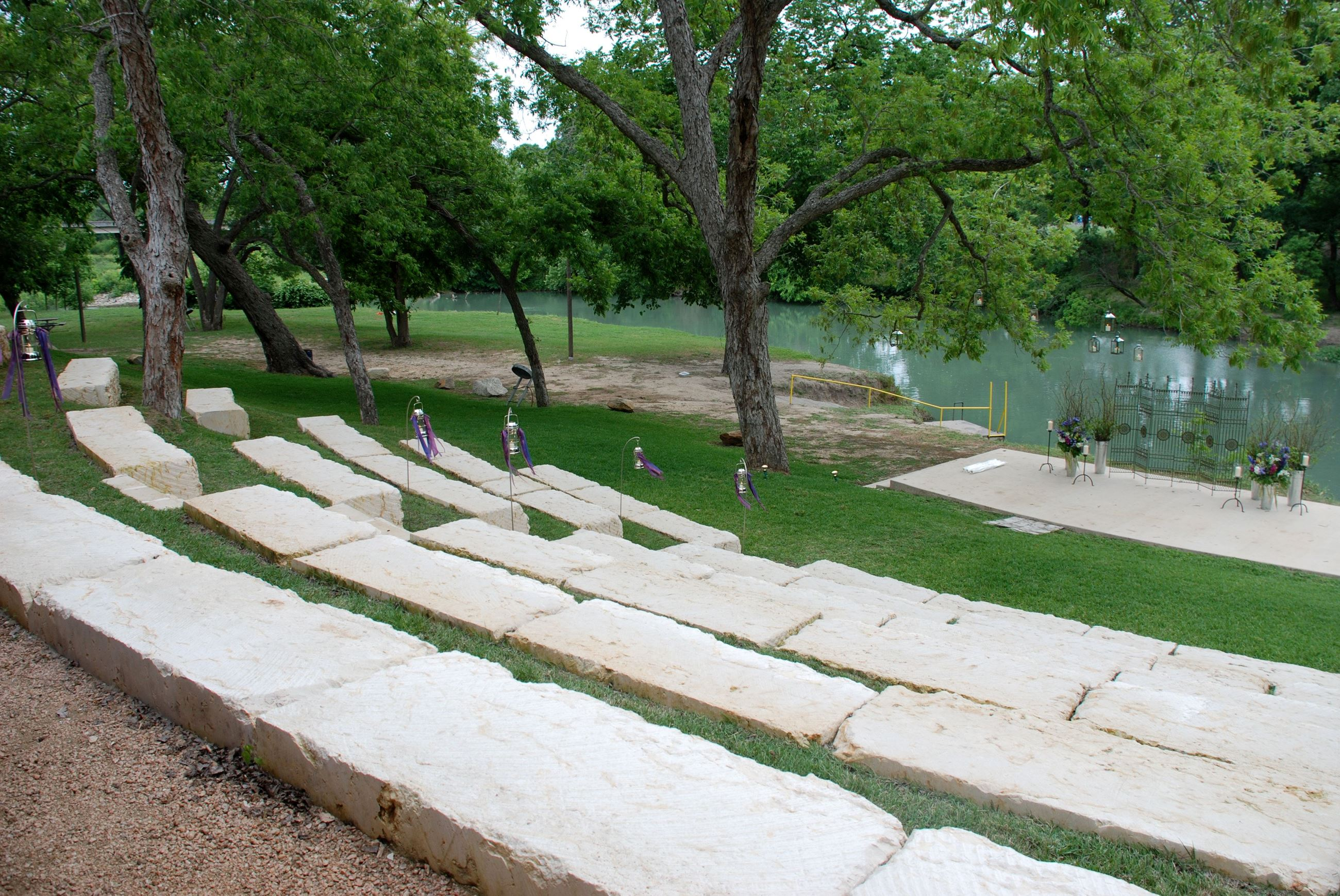 Zedler Mill Pavilion Venue Front View Ampitheatre Seating Ceremony Site On San Marcos River